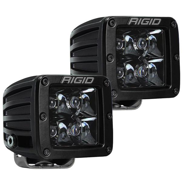 Rigid Industries Midnight Edition D-Series Pro, Spot (Surface Mount) Pair