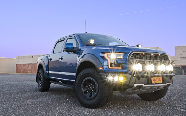 2017+ Ford Raptor Triple Fog Light Kit (w/Baja Designs Lights)