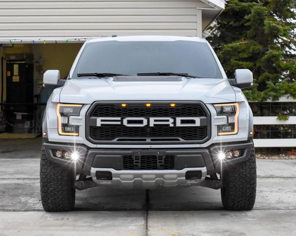 2017+ Ford Raptor Triple Fog Light Kit (w/Rigid Industries Radiance)