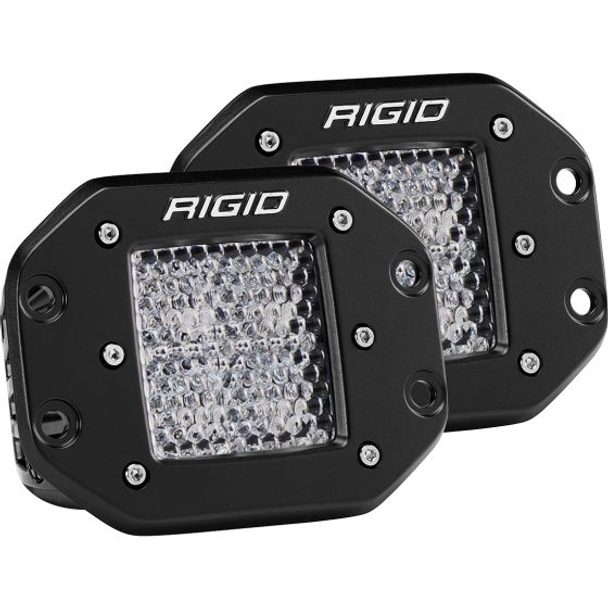Rigid Industries D-Series Pro, Flood Diffused (Flush Mount) Pair