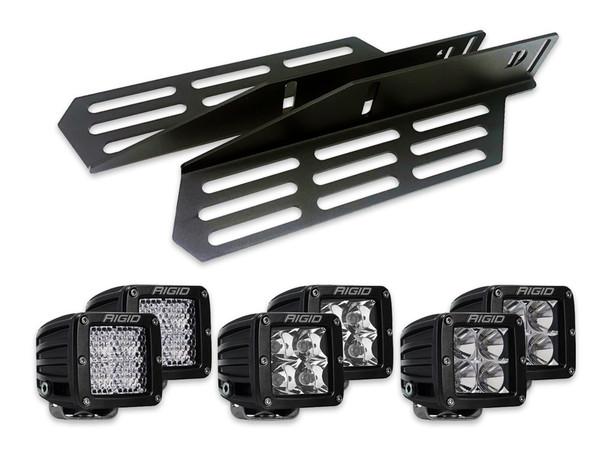 2017+ Ford Raptor Triple Fog Light Kit (w/Rigid Industries D-Series)