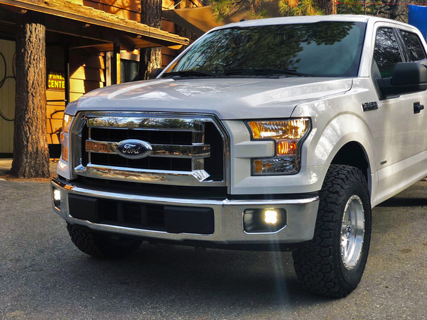 Baja Designs Ford 2015-2018 F150 & 2017-2018 Super Duty, SAE Amber Fog Pocket Kit