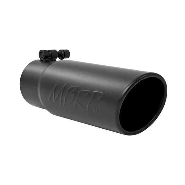 """MBRP Tip, 3 1/2"""" O.D. Angled Rolled End 3"""" inlet 10"""" length, T304"""
