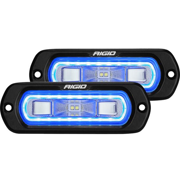 Rigid Industries SR-L Series Spreader, Flush Mount (Blue)