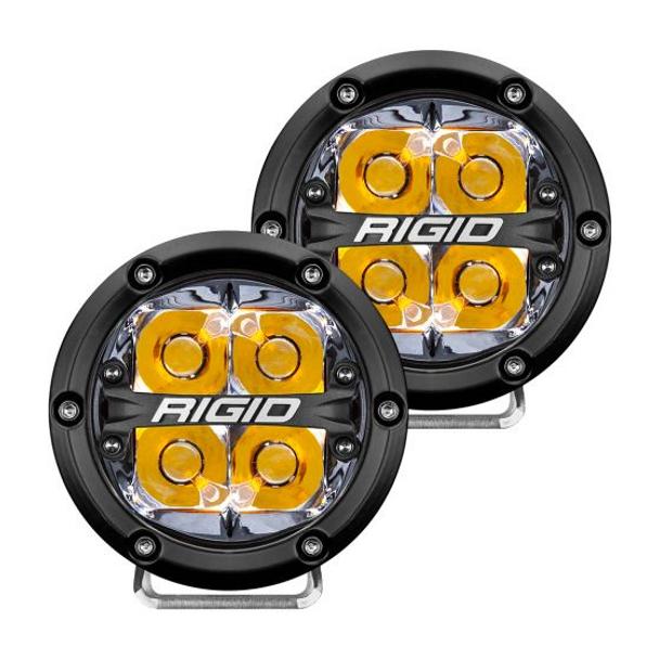 "Rigid Industries 360-Series, 4"" Pair, Spot (Amber Backlight)"