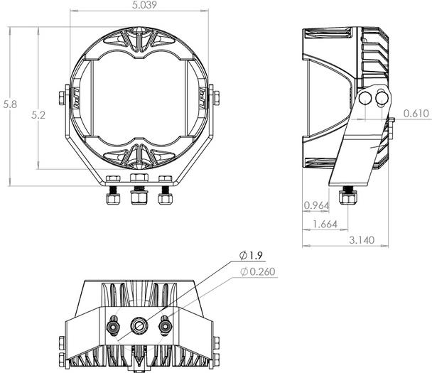 Baja Designs LP4 Pro, Driving/Combo, Amber, Pair