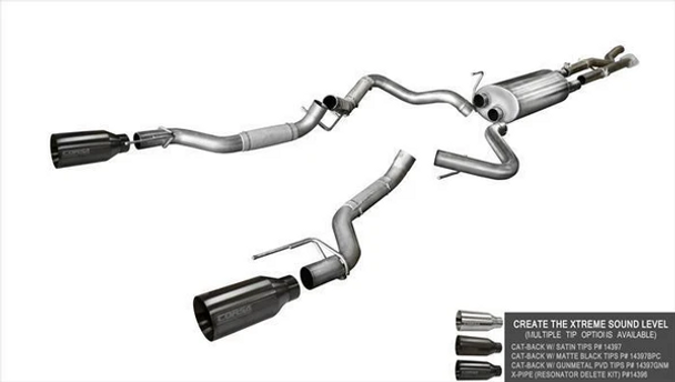 CORSA Res-Delete X-Pipe Ford F-150 EcoBoost 2017-2020 Raptor 3.5T