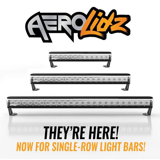 "Aerolidz Light Bar Cover - 50""/ 52"" - Clear - Single Row"