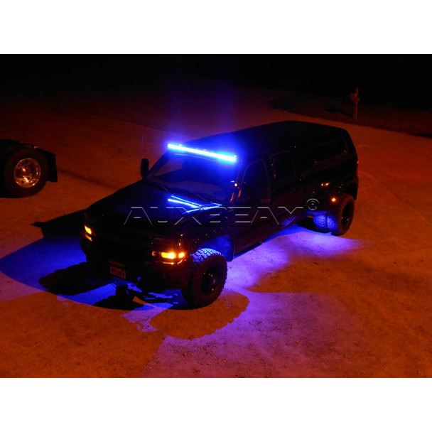 """AuxBeam V-Series 52"""" 300W Combo Straight RGB LED Light Bar (5D Projector Lens) - CLEARANCE"""