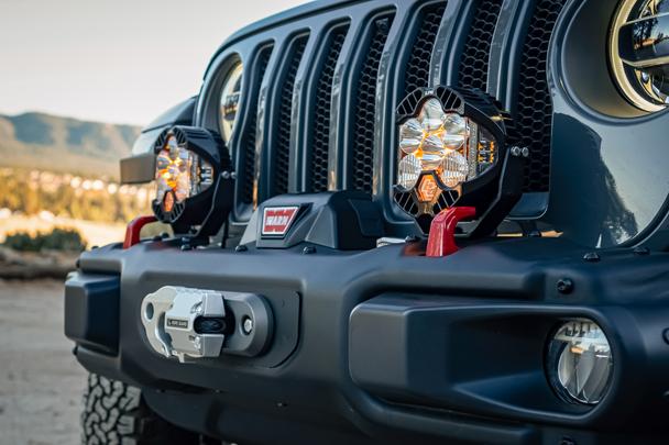 Baja Designs Jeep JL/JT Rubicon Steel Bumper LP4 Light Kit (Toggle Switch)
