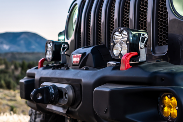 Baja Designs Jeep JL/JT Rubicon Steel Bumper XL Pro Light Kit (Toggle Switch)