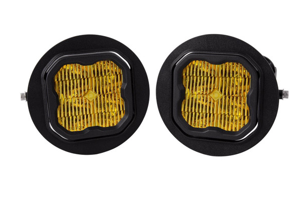 """Diode Dynamics Stage Series 3"""" Pro Yellow SAE Fog Type FT Fog Kit (2006-2014 Ford F-150, 2005-2011 Toyota Tacoma, 2007-2013 Toyota Tundra)"""