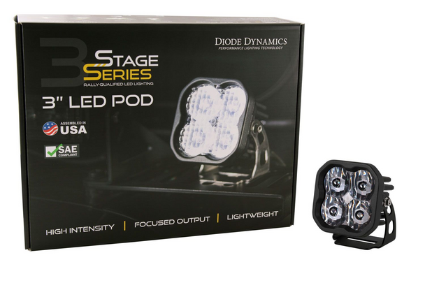 """Diode Dynamics Stage Series 3"""" Sport White Combo Standard (Single)"""