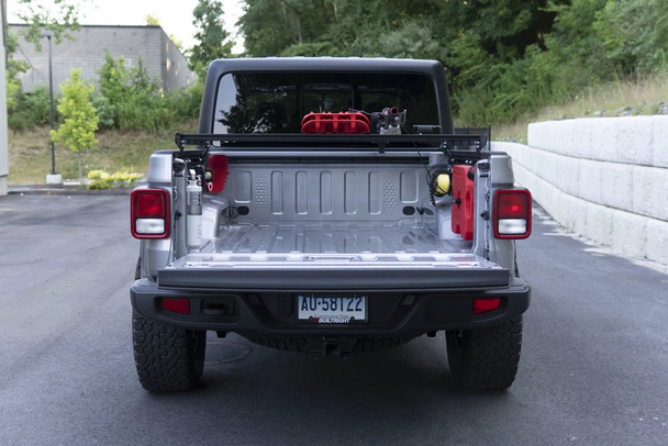 BuiltRight Industries Bedside Rack System Driver's Rear Panel for Jeep Gladiator (2020+)
