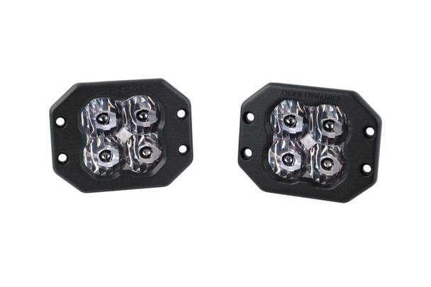 """Diode Dynamics Stage Series 3"""" Pro White SAE Driving Flush (Pair)"""