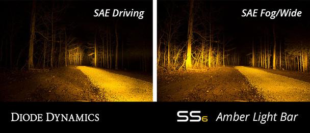 "Diode Dynamics 12"" LED Light Bar Amber SAE Fog/Wide"