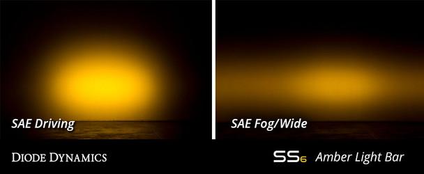 "Diode Dynamics 6"" LED Light Bar Amber Flood (Pair)"