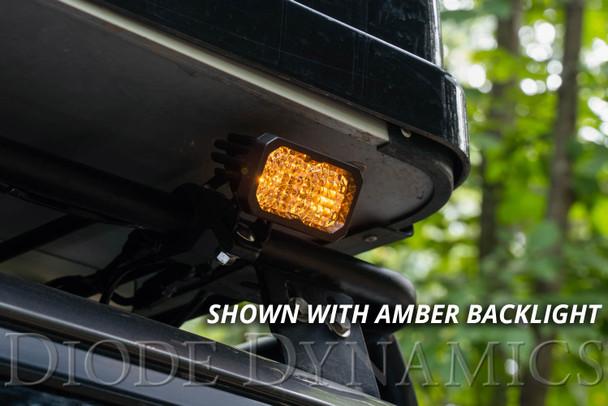 "Diode Dynamics Stage Series 2"" LED Pod Sport White Spot Standard Amber Backlight (Single)"