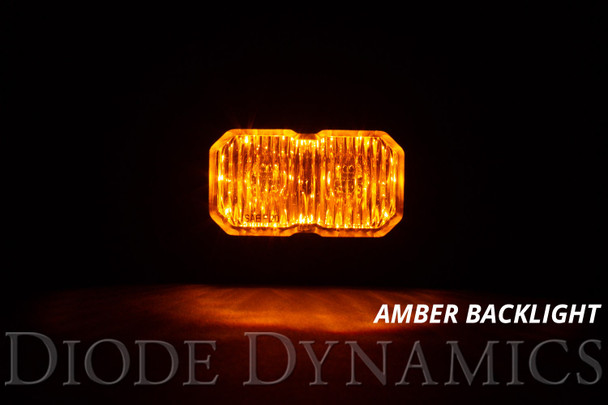 """Diode Dynamics Stage Series 2"""" LED Pod Pro Yellow Driving Standard Amber Backlight (Single)"""