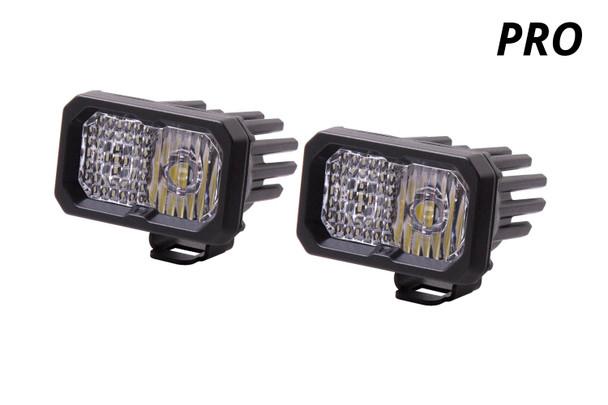 "Diode Dynamics Stage Series 2"" LED Pod Pro White Fog Standard White Backlight"