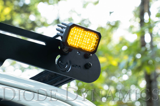 """Diode Dynamics Stage Series 2"""" LED Pod Pro Yellow Spot Standard Amber Backlight"""