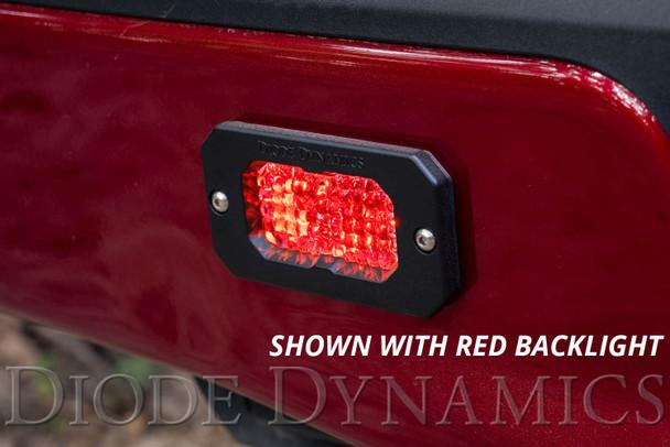 """Diode Dynamics Stage Series 2"""" LED Pod Sport White Flood Flush White Backlight (Single)"""