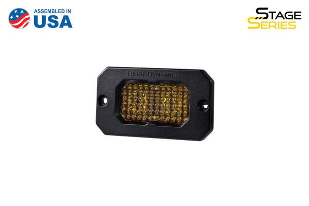 "Diode Dynamics Stage Series 2"" LED Pod Sport Yellow Flood Flush Amber Backlight (Single)"