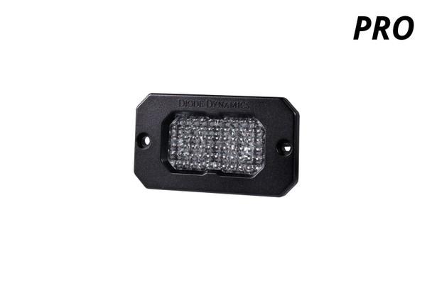 "Diode Dynamics Stage Series 2"" LED Pod Pro White Flood Flush White Backlight (Single)"
