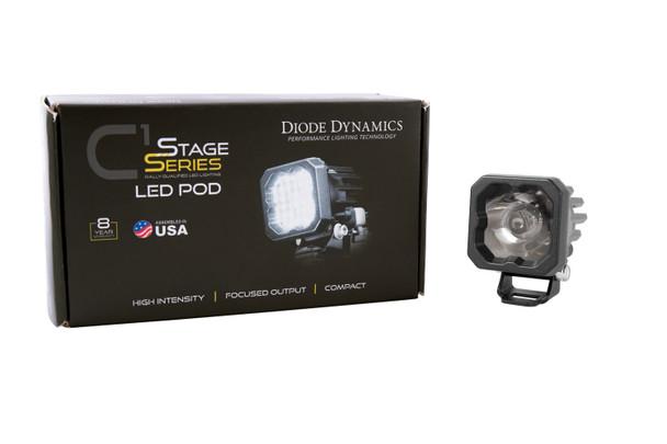 "Diode Dynamics Stage Series 1"" LED Pod Sport White Wide Standard Blue Backlight (Single)"