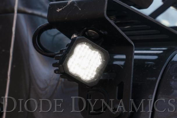 "Diode Dynamics Stage Series 1"" LED Pod Sport White Flood Standard Red Backlight"