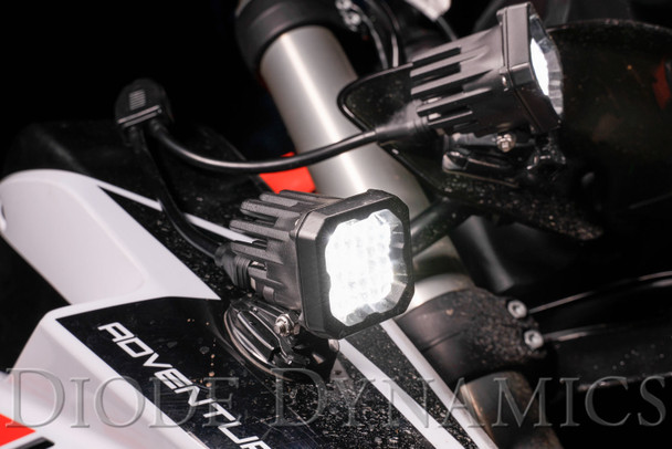 "Diode Dynamics Stage Series 1"" LED Pod Sport White Flood Standard Red Backlight (Single)"