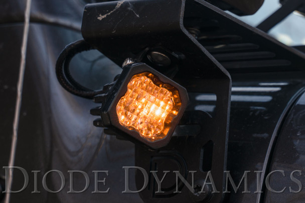 """Diode Dynamics Stage Series 1"""" LED Pod Pro White Wide Standard Amber Backlight (Single)"""