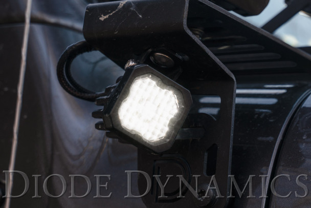"""Diode Dynamics Stage Series 1"""" LED Pod Pro White Wide Standard Red Backlight (Single)"""