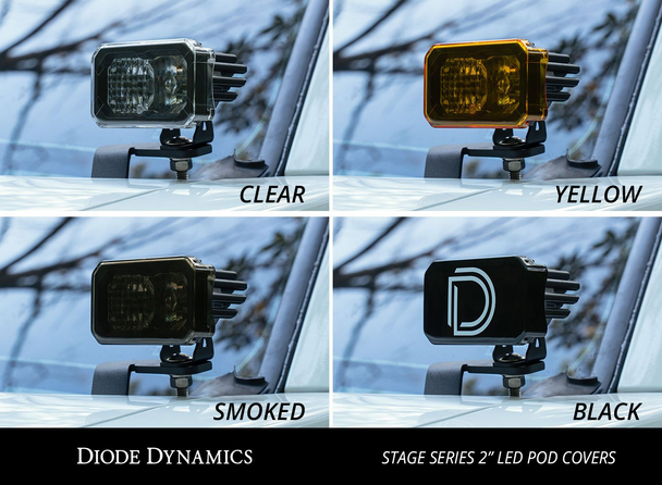 """Diode Dynamics Stage Series 2"""" LED Pod Cover (Smoked))"""