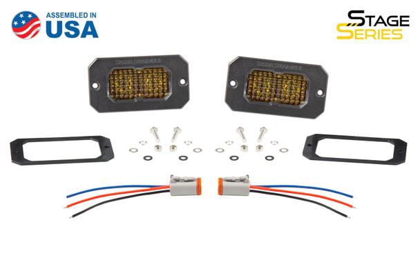 "Diode Dynamics Stage Series 2"" LED Pod Pro Yellow Combo Flush Amber Back Light"
