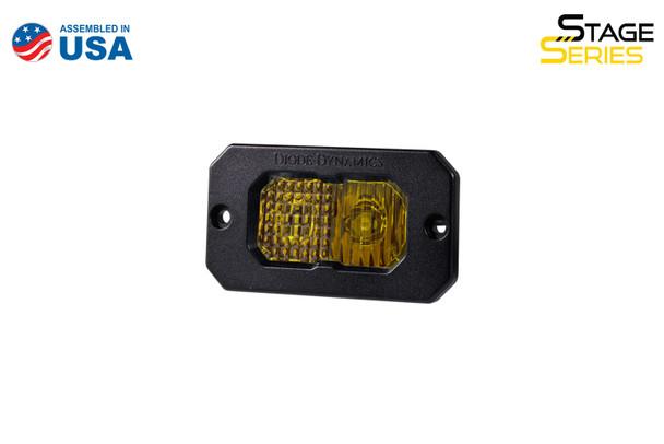 "Diode Dynamics Stage Series 2"" LED Pod Sport Yellow Combo Flush Amber Back Light (Single)"