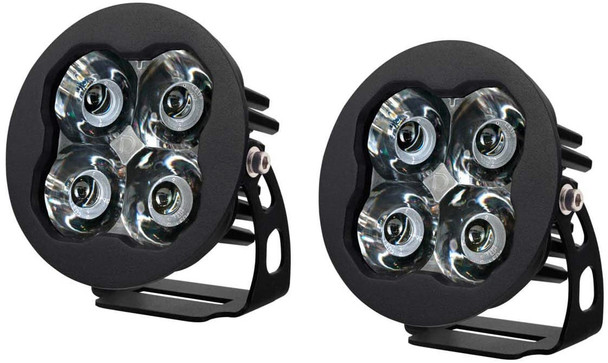 """Diode Dynamics Stage Series 3"""" Pro White Spot Round (Pair)"""