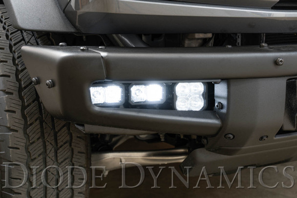 Diode Dynamics Stage Series Fog Pocket Kit for 2021 Ford Bronco, White Max