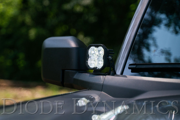 Diode Dynamics SS3 LED Ditch Light Kit for 2021 Ford Bronco, Sport White Combo