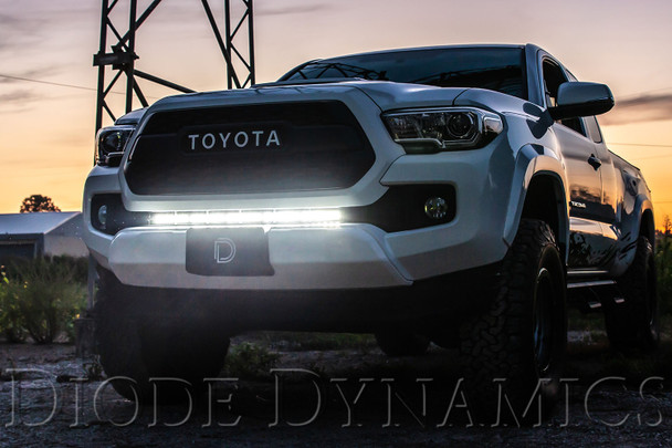 Diode Dynamics SS30 Stealth Lightbar Kit for 2016-2021 Toyota Tacoma, Amber Combo