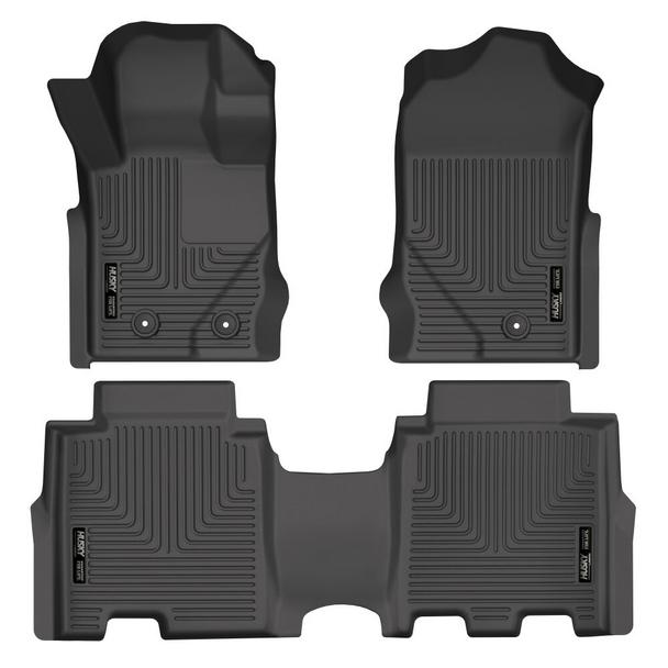 Husky Weatherbeater Front & 2nd Seat (4 Door) Floor Liner for 2021+ Ford Bronco
