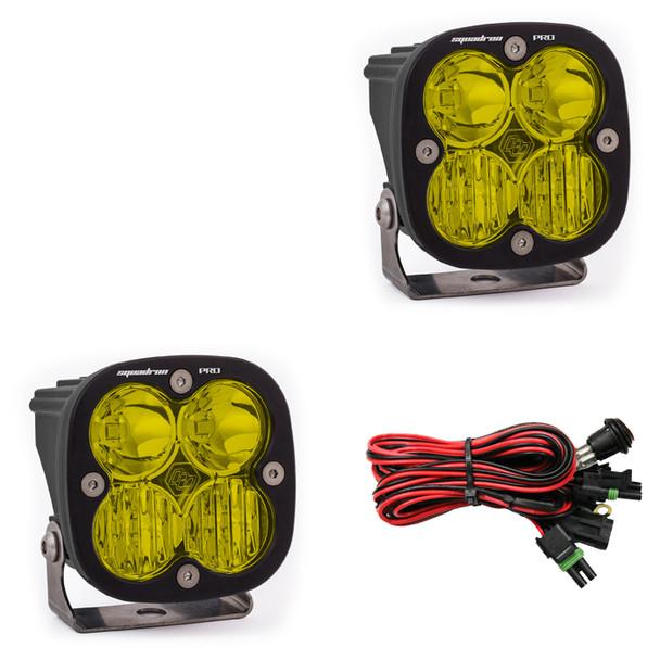 Baja Designs Squadron Pro, Pair LED Driving/Combo, Amber