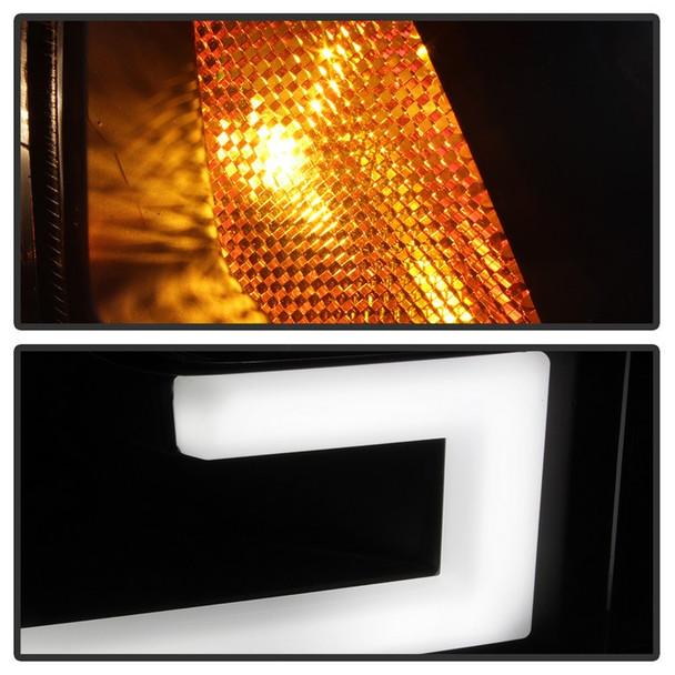 Spyder 2015-2017 Ford F-150 LED Light Bar Projector Headlights (Black)