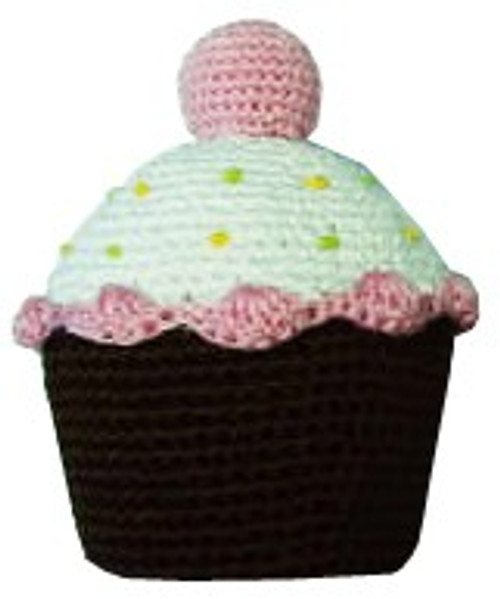 Strawberry Cupcake Crochet Toy