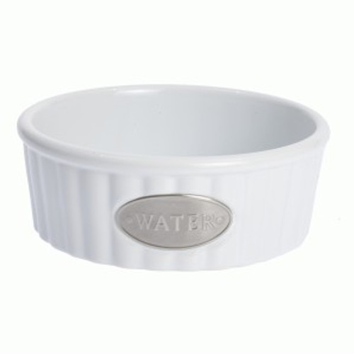 White WATER Tagged Bowl