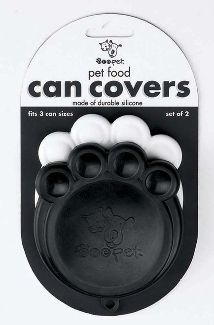 Black & White Paw Can Cover Set