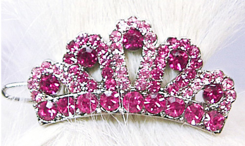 Pink Swarovski Crown Clip