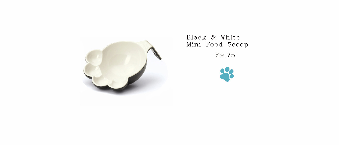 Black & White Mini Food Scoop