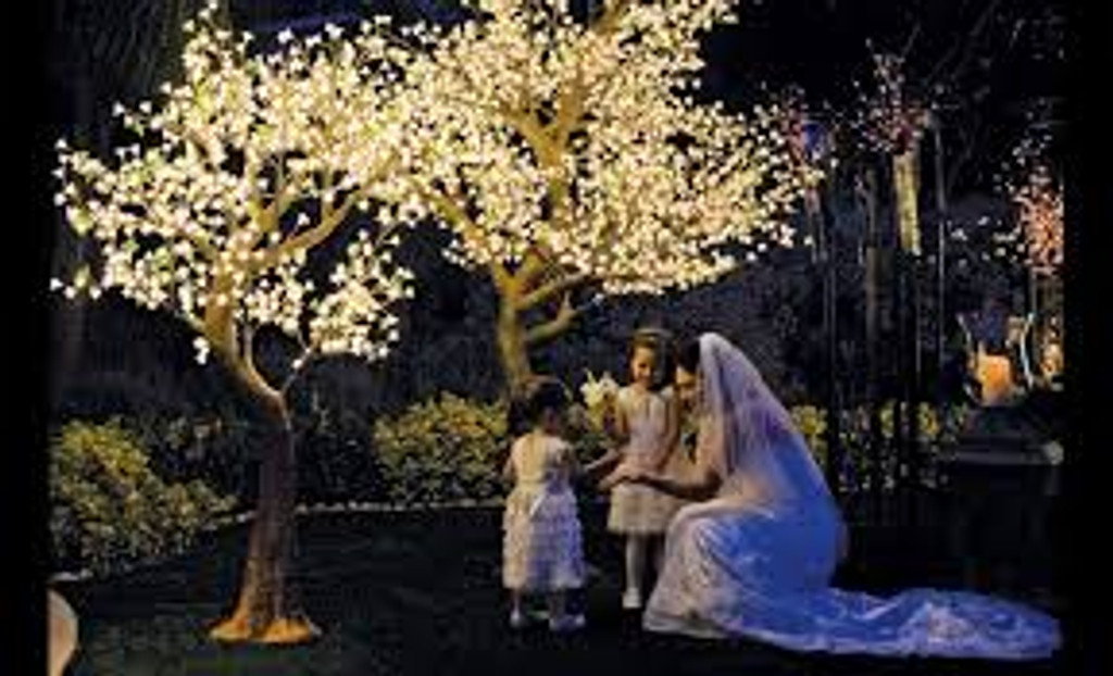 7' Warm White Light Blossom Tree