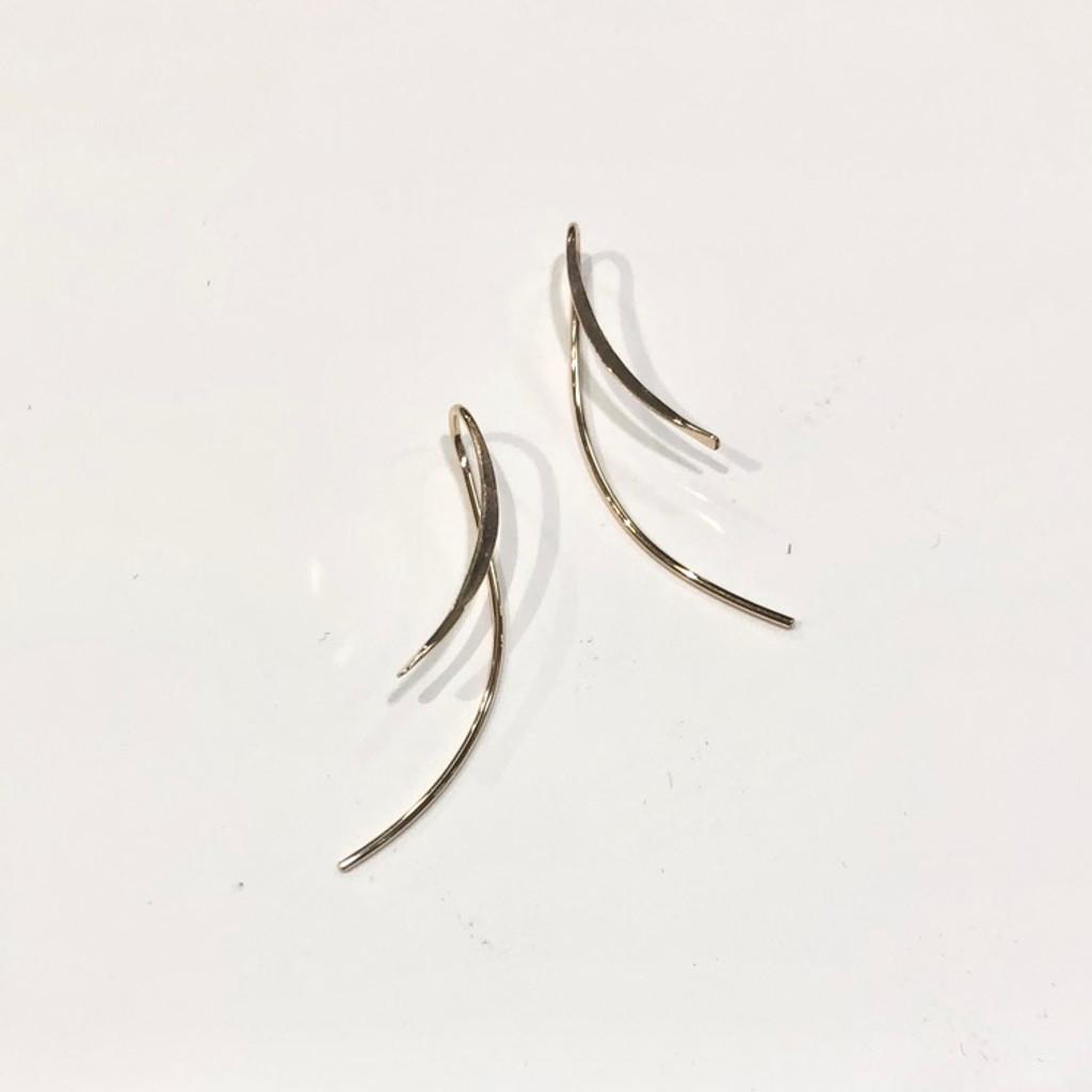 Gold Filled Minimal Threader Parenthesis Earrings